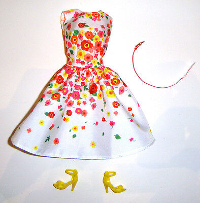 Barbie Fashion Floral Dress/Yellow Shoes For Model Muse Dolls nv03