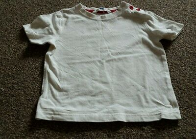 Boys white John Lewis t shirt size 2-3 years