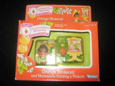 Vintage Strawberry Shortcake Strawberryland Minatures Orange Blossom Painting