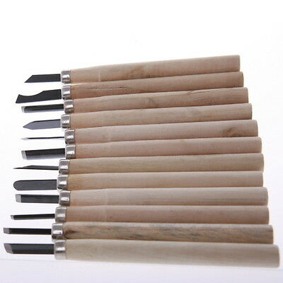 Wood Carving Tool DIY Handy Set of 12 Chisels with Steel Blade