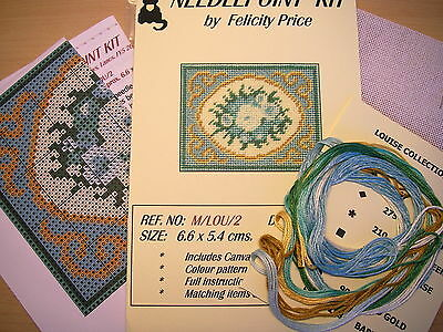 Needlepoint kit for mat in LOUISE (t) design  - DOLLS HOUSE MINIATURES (F666)