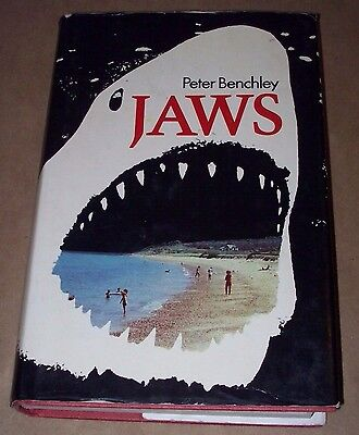 JAWS by Peter Benchley (Hardcover w/jacket 1974: 1st ed)