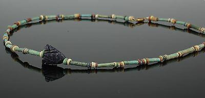 Fabulous Ancient Egyptian Bead Necklace 1300 Bc