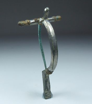 Fabulous Ancient Roman Silvered Bronze Brooch 2Nd Ad