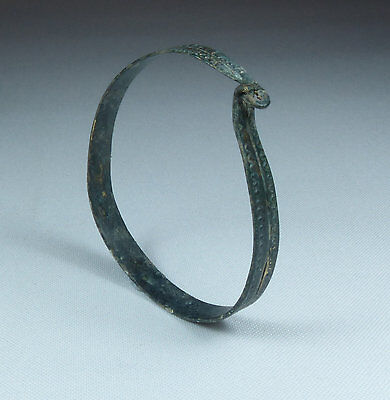 Ancient Viking 10Th Century Bronze Bangle