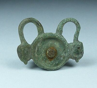 Ancient Roman Bronze Plate Brooch 2Nd Ad