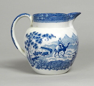 Attractive Antique Early Rogers Blue White Transfer Printed Jug