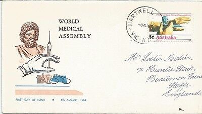 Australia Fdc-1968 World Medical Assembly
