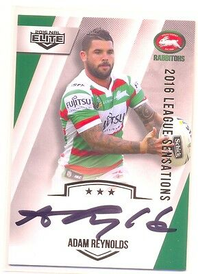 2016 NRL ESP Elite League Sensations Sig LS12 Adam Reynolds - Rabbitohs 068/130