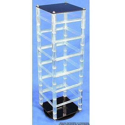"Revolving Rotating Acrylic Earring Display Holds 48 2"" Cards"