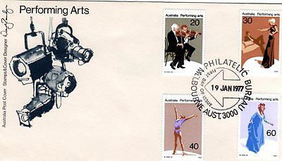 Australia Fdc-1977 Pefrorming Arts