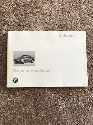 BMW 3 Series E36 96-99 Owners Manual Handbook Coupe Touring Convertible Saloon