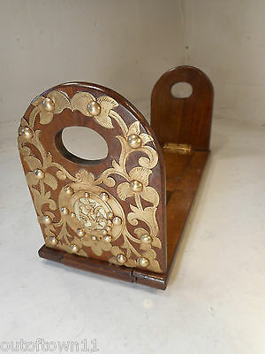 Antique Walnut Extending Book Slide , Book Ends     ,  ref 2375