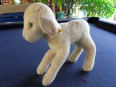 Steiff lamb  sheep  with button flag  Germany 406