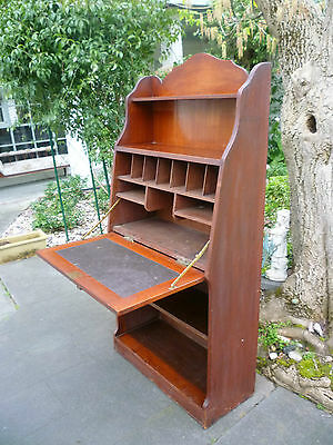 Antique Blackwood Secretaire Desk with Bookcase!