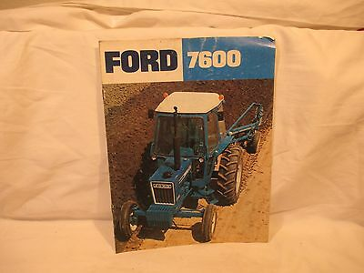 Ford 7600 Tractor Dealer's Brochure AD2182