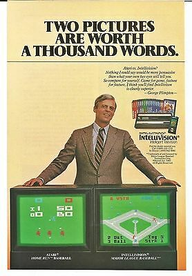 Vintage 1982 Mattel Electronics Intellivision video game photo print ad