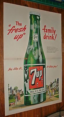 Vintage 1948 2 Page 7 Up Soda Advertisement 7UP