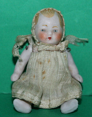 Vintage Dolls House Bisque German Baby Doll