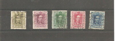 1922   Spain    5 Fine Used Stamps   Old