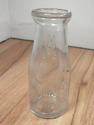 Vintage Clear Glass Milk Bottle - Manor Farm Dairy Limited