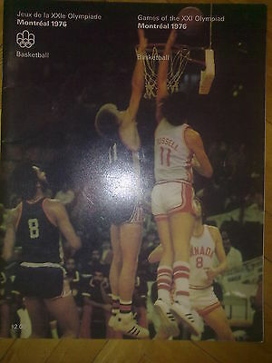 Programme Olympic Games Montreal 1976 BASKETBALL
