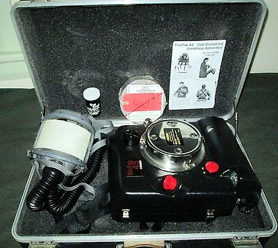 BioPak 45 Self Contained Breathing Apparatus Set in Hard Carrying Case