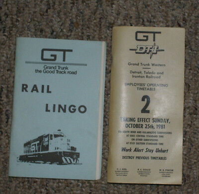 Gtw Grand Trunk Western Dt&i Employee Timetable & Booklet