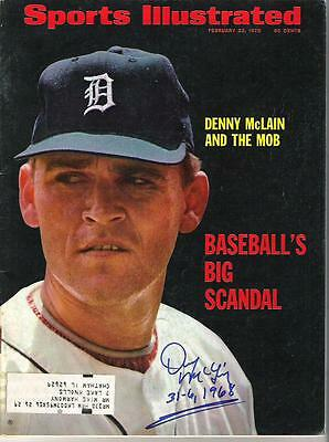 Denny McLain AUTOGRAPH 1970 SPORTS ILLUSTRATED SIGNED