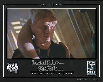STAR WARS personally signed 10x8 - MICHAEL CARTER as BIB FORTUNA
