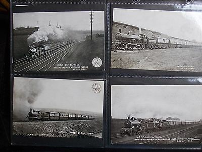Modern Postcard Album With 112 Early Railway  Postcards  All Good Condition.