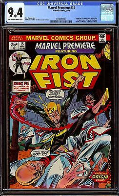 Marvel Premiere #15...CGC 9.4 NM...First appearance of Iron Fist