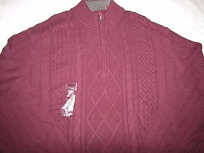 NWT Men's IZOD 1/2 Zip-Up Sweater Long Sleeve Size 4XL $80 Color - Fig