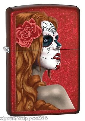 Day Of The Dead Festival Lady Zippo Lighter, 28830