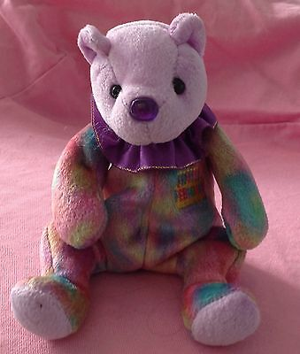 February the birthday Bear Ty Beanie Baby 1999 purple tie dye