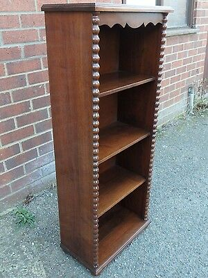 Art Deco antique South African carved solid black stinkwood library bookcase
