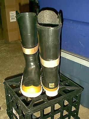 Servus Fire Black  Rubber  Boots Waders Men Size 10 And 1/2