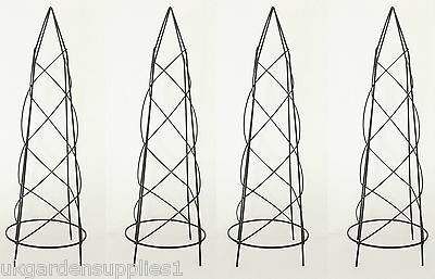 Pack of 4 x 46cm high Small Nostell Obelisks - Climbing Plant Garden Supports