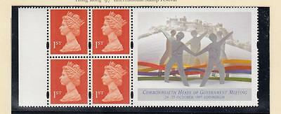GB MNH 4 x 1st CLASS COMMONWEALTH HEADS OF GOVERNMENT BOOKLET PANE LABEL