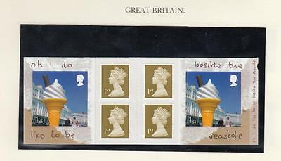 GB MNH BOOKLET OH I DO LIKE TO BE BESIDE THE SEASIDE 6 x 1st CLASS PO FRES