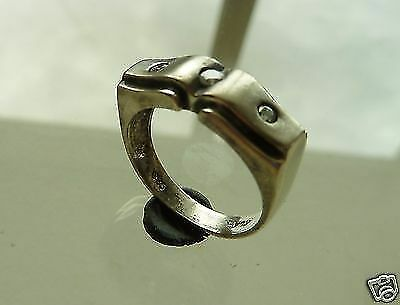 Vintage silver ring (411).