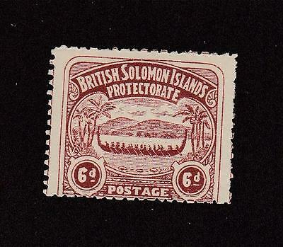 British Soloman Islands # 6 Mh Cat Value $75