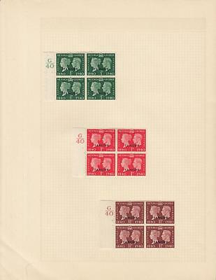 Gb Offices Abroad Kgv1 Control Blocks Of 4+Mef Mlh/mh Singles