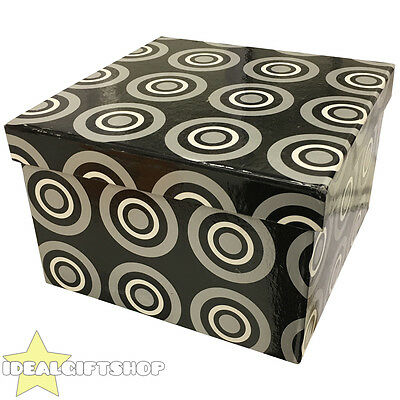 Black Gift Box Lidded Christmas Present Boxes Xmas Gift Tower Modern Design