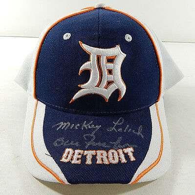 Bill Freehan Mickey Lolich Signed Detroit Tigers Baseball Hat w/ COA Auto