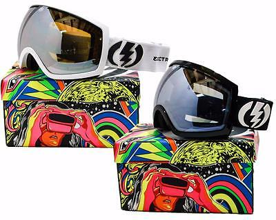NEW ELECTRIC EG2 GOGGLES Gloss White/Bronze-Silver Chrome Mirror Lens Ski Snow