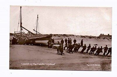 Norfolk,  CAISTER,   Launch of the  Lifeboat  ,  Nr. Yarmouth, 1912, RP
