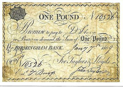Lloyds Bank - Early Bank Note - Unposted Postcard