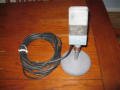 Vintage RCA 74-B RIBBON Microphone jr velocity 20' cable, stand