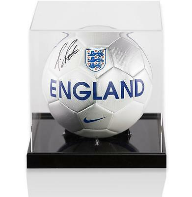 Fraser Forster Official England Signed England Football in Acrylic Case